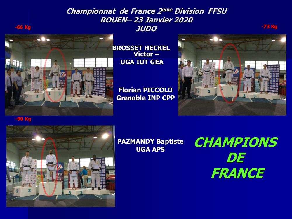 Champions de France 2ème division