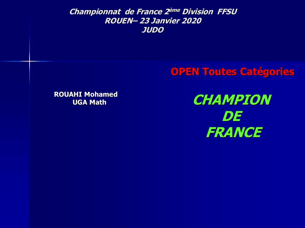 Champion de France 2ème Division